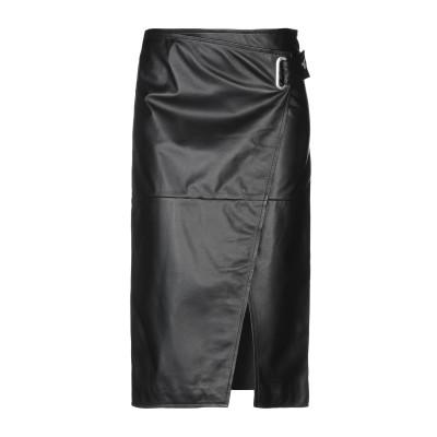 フェデリカ・トシ FEDERICA TOSI 7分丈スカート ブラック 40 100% 革 7分丈スカート