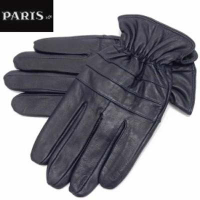 ◆手袋◆PARIS16e 羊革/シープスキン ネイビー メンズ グローブ メール便可 LAM-N05-NV