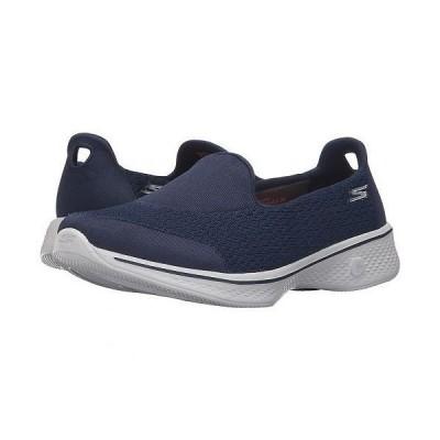 SKECHERS Performance スケッチャーズ レディース 女性用 シューズ 靴 スニーカー 運動靴 Go Walk 4 - Pursuit - Navy/Gray