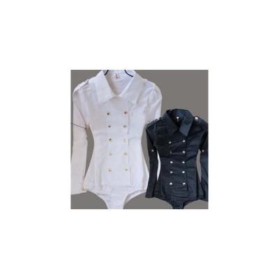 シャツボディシャツワイシャツレディースオフィス通勤服ブラウス白シャツ長袖夏便利パンツ型シャツ