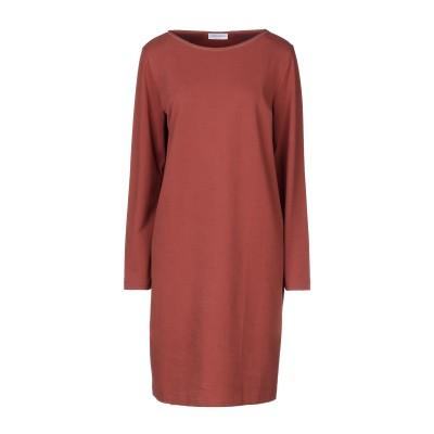 グラン サッソ GRAN SASSO ミニワンピース&ドレス ココア 44 コットン 94% / ポリウレタン 6% ミニワンピース&ドレス