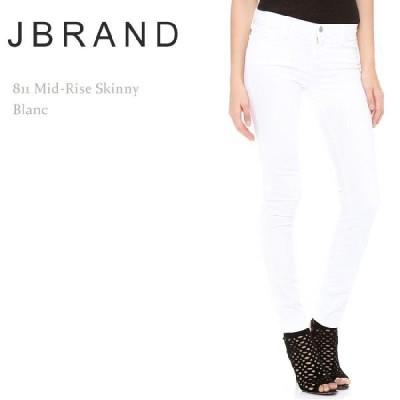 J Brand ジェイブランド 811 MID-RISE SKINNY LEG Blanc スキニー ホワイトデニム