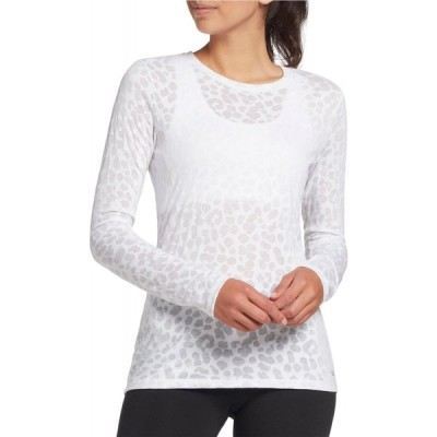 DSG レディース トップス Core Cotton Jersey Long Sleeve Shirt White Leopard Burnout