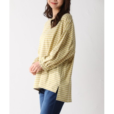 (Honeys/ハニーズ)ボリューム袖Tシャツ/レディース イエロー