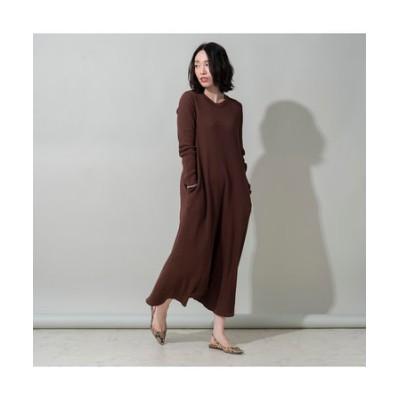 【her EUCLAID】バックホックワンピース