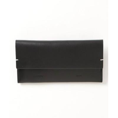 財布 【BUILDING BLOCK】 Envelope Wallet In Black