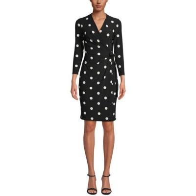 アンクライン レディース ワンピース トップス Nomad Printed Faux-Wrap Dress