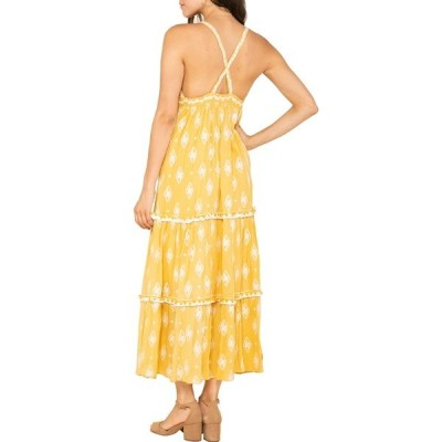 ラガ レディース ワンピース トップス Summerland Cross Back Maxi Dress YELLOW