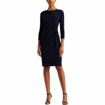 ラルフ ローレン LAUREN Ralph Lauren レディース ワンピース ワンピース・ドレス Mid Weight Matte Jersey Trava 3/4 Sleeve Day Dress