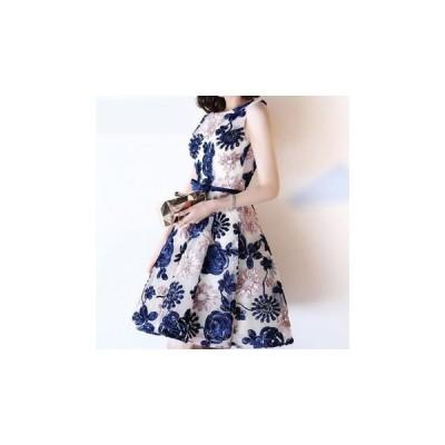 ドレス 花柄 大人 刺繍 キュート 結婚式 fe-0072