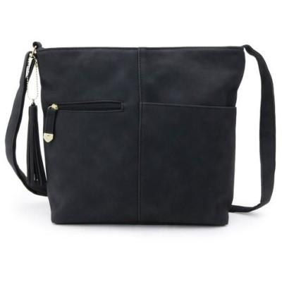 SHOO・LA・RUE/シューラルー 長財布収納ポケット付きスクエアショルダーバッグ ブラック(019) 00