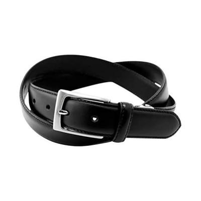長沢ベルト工業 別注 VINCENT CRAFTED イタリアンレザー ビジネスベルト ペコスハード 日本製 メンズ (ブラック ワンサイズ)