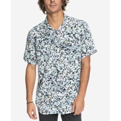 Quiksilver クイックシルバー ファッション アウター Quiksilver Mens Shirt Blue Size XL Abstract Print Modern Fit Button