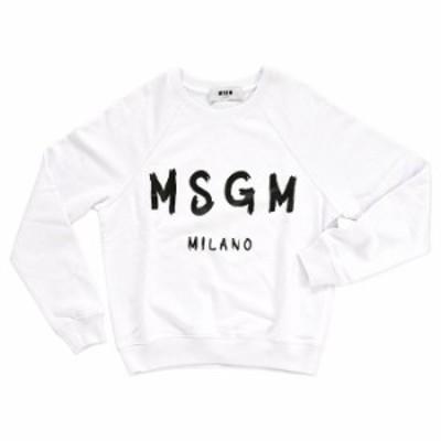 MSGM Sweatshirt 2441MDM89 184298 01 ホワイト(otr1866)