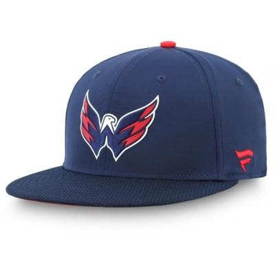 ユニセックス スポーツリーグ ホッケー Washington Capitals Fanatics Branded Authentic Pro Rinkside Fitted Hat - Navy 帽子