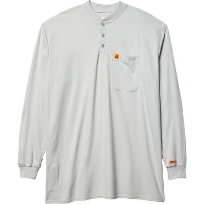 ラングラー Wrangler メンズ 長袖Tシャツ 大きいサイズ ヘンリーシャツ トップス Big & Tall Flame-Resistant Long Sleeve Henley Grey