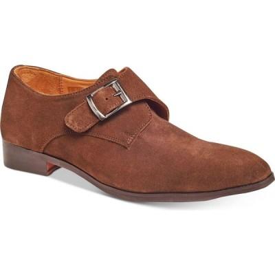 カルロスサンタナ Carlos by Carlos Santana メンズ ローファー シューズ・靴 Freedom Single Monk-Strap Suede Loafers Pastel Brown