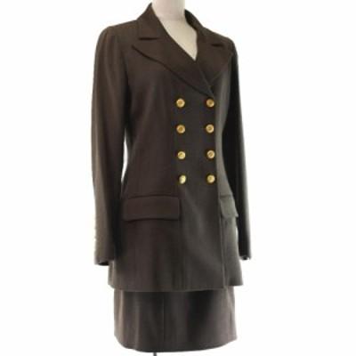 CHANEL シャネル スカートスーツ P08507V02560 ウール カーキブラウン セットアップ
