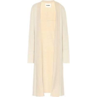 ジル サンダー Jil Sander レディース カーディガン ロング トップス stretch wool and cashmere longline cardigan Light Beige