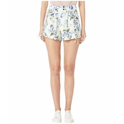 ザ・クープルス ハーフ&ショーツ ボトムス レディース Antique Flower Printed Shorts Blue/Ecru