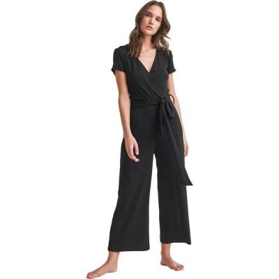 スキン Skin レディース オールインワン ジャンプスーツ ワンピース・ドレス Nicole Pima Cotton/Modal Blend Jumpsuit Black