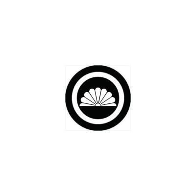 家紋シール 丸に半菊紋 直径24cm 丸型 白紋 KS24M-0738W