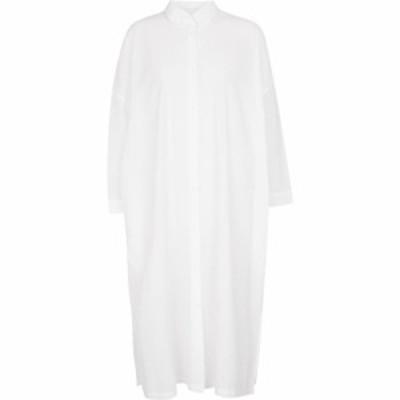マックスマーラ Max Mara レディース ワンピース ミドル丈 ワンピース・ドレス Bibo cotton midi dress Weiss