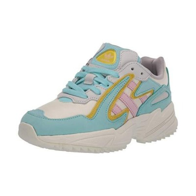 adidas Originals Men's YUNG-96 Chasm Hiking Shoe, Off White/Clear Pink/Bright Yellow, 11.5 M US