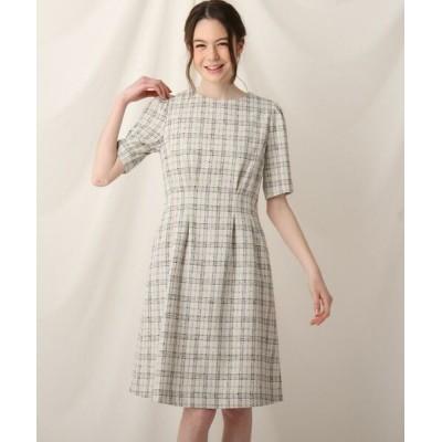 Couture Brooch/クチュールブローチ ツイードワンピース オフホワイト(403) 40(L)