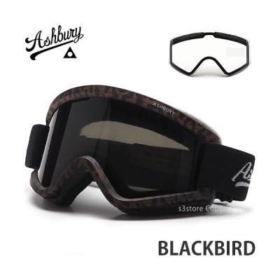 21 アシュベリー ブラックバード ASHBURY BLACKBIRD ASIAN FIT スノボ スキー ゴーグル フレーム:DANIMALS レンズ:DARK SMOKE