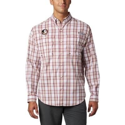 コロンビア シャツ トップス メンズ Columbia Sportswear Men's Florida State University Super Tamiami Button Down Shirt Maroon