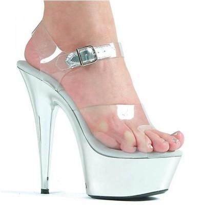 エリーシューズ レディース パンプス Ellie Shoes Women's 609-CHROME Platform Sandal