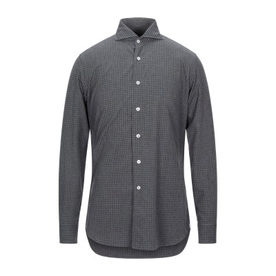 ラルディーニ LARDINI シャツ スチールグレー 40 コットン 100% シャツ