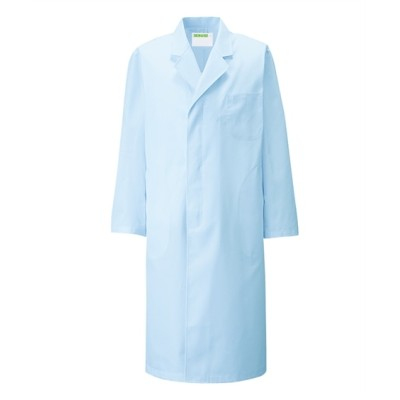 110 KAZEN メンズ診察衣S型長袖 ナースウェア・白衣・介護ウェア