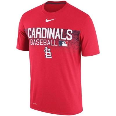 ナイキ メンズ MLB St. Louis Cardinals Nike Authentic Legend Team Issued Performance T-Shirt Tシャツ 半袖 ドライフィット Red