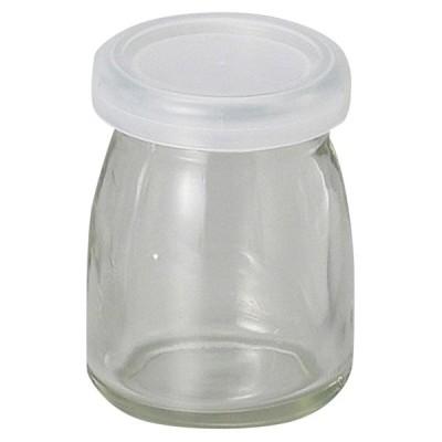 手造りお菓子 瓶 / 蓋付デザート瓶ヨーグルト(ガラス) 寸法: 5.5 x 7.5cm・105cc 155g