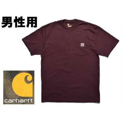 カーハート メンズ 半袖Tシャツ 米国基準サイズ ワークウェア ポケット ショートスリーブ CARHARTT 01-20250258