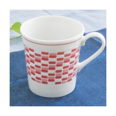 【SALE】3/4まで!洋食器 レッドモザイク スタイリッシュマグカップ コップ 珈琲 コーヒー カフェ シンプル モダン オシャレ(お取り寄せ商品)