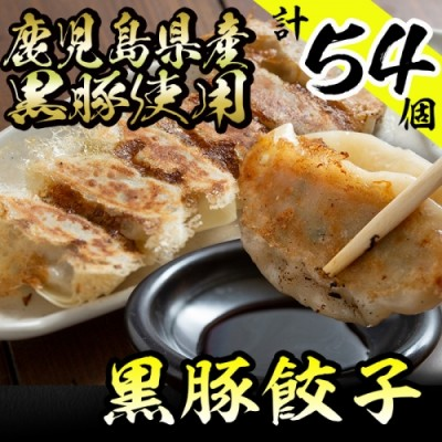 No.241 鹿児島県産黒豚餃子(計54個)こだわりのギョウザをご家庭で♪【ぎょうざのmany lab】