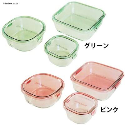 iwaki 保存容器 角型3点セット PSCPRN3 全2色