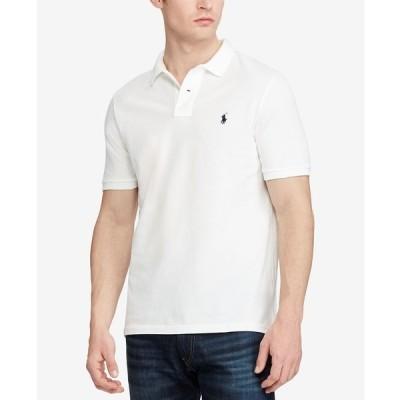 ラルフローレン ポロシャツ トップス メンズ Men's Big & Tall Classic-Fit Cotton Mesh Polo White