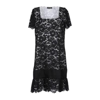 ツインセット シモーナ バルビエリ TWINSET ミニワンピース&ドレス ブラック 40 ナイロン 66% / コットン 34% ミニワンピース&