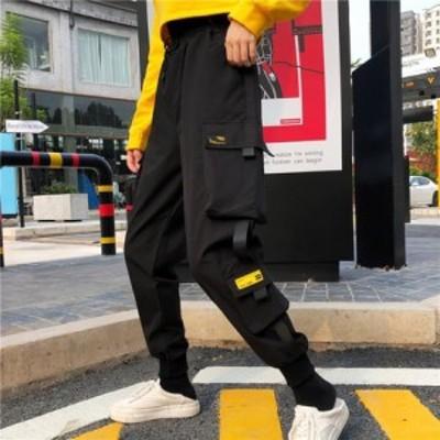 ヒップホップ 運動パンツ レディース 原宿風 ダンスウェア HIPHOP公演服 ズボン ゆったり カジュアルなズボン 新作