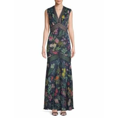 タダシショウジ レディース ワンピース Floral Floor-Length Dress