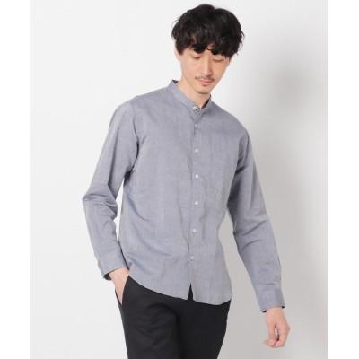TAKEO KIKUCHI(タケオキクチ) Herdmans Linen バンドカラーシャツ