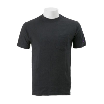 【CHAMPION】 チャンピオン M ベーシック ポケットTシャツ2 C3-M349 ブラック M