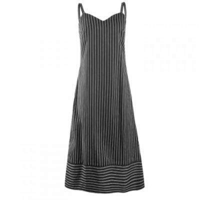 ピープル ツリー People Tree レディース ワンピース ミドル丈 ワンピース・ドレス Rosalind Striped Midi Dress Black