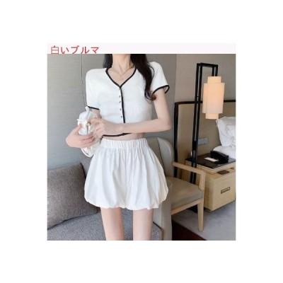 【送料無料】ファッション セット 夏 レトロ 複数色 半袖 シングル列ボタン | 364331_A63273-2615016