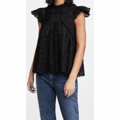 シー Sea レディース ブラウス・シャツ トップス Ingrid Flutter Sleeve Top Black