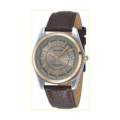 【並行輸入品】Armitron Men's 20/1925GYBN Round Two-Tone Brown Leather Strap Watch